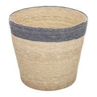 Baolgi Stripe Waste Basket Navy