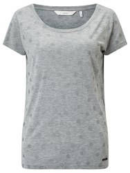 Numph Metallic Spot T Shirt Grey