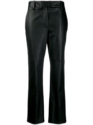 Brunello Cucinelli Cropped Straight Leg Trousers Black