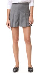 Alice Olivia Winslet Pleat Shorts Charcoal