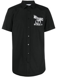 Moschino Short Sleeved Logo Print Shirt Black