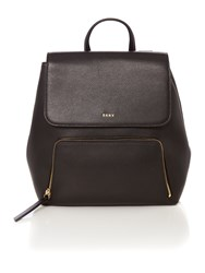 Dkny Saffiano Crosshatch Black Backpack Black