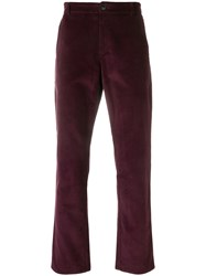 A Kind Of Guise Cropped Corduroy Trousers Pink And Purple