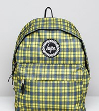 Hype Exclusive Yellow Check Backpack Yellow Check