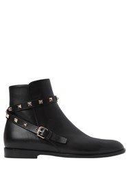 Valentino 20Mm Rockstud Leather Ankle Boots
