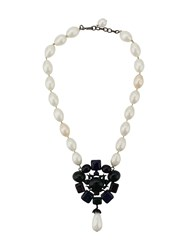 Chanel Vintage 1980'S Faux Pearl Necklace White