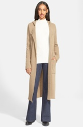 Atm Anthony Thomas Melillo Double Breasted Felted Wool Blend Coat Toffee