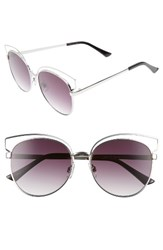 Women's Bp. 55Mm Round Metal Sunglasses