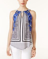 Inc International Concepts Handkerchief Hem Halter Top Only At Macy's Placed Floral Scarf