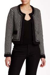 Tracy Reese Short Chain Accent Cardigan Black