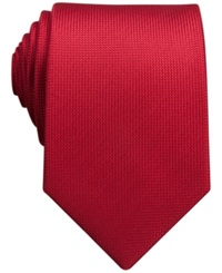 Perry Ellis Oxford Solid Tie Red