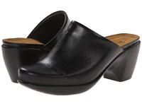 Naot Footwear Dream Black Madras Leather Women's Clog Mule Shoes