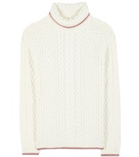 Shrimps Stanley Knitted Wool Sweater White