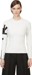 Acne Studios White Leather Long Sleeve Mercy Top