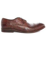 Hudson Davern Perforated Tip Brown Faded Leather Derbies