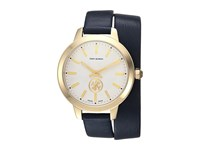 Tory Burch Collins Double Wrap Tb1206 Navy Gold Watches Blue