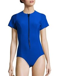 Lisa Marie Fernandez Farrah Solid One Piece Maillot Royal Blue