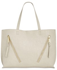 Steve Madden Queenie Logo Large Tote Bisque