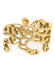 Marc Alary 18Kt Gold Cut Out Panther Ring Metallic