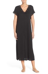 Women's Natori 'Zen' Short Sleeve Nightgown Black