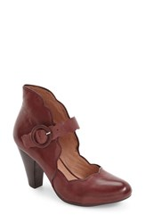 Miz Mooz Women's Footwear 'Carissa' Mary Jane Pump Wine Leather