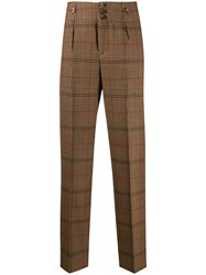 Pt01 Checked Tailored Trousers 60