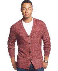 Club Room Allover Textured Farisle Cardigan Only At Macy's Cherry Wine