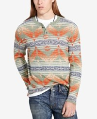Denim And Supply Ralph Lauren Men's Southwestern Henley Green