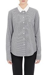Band Of Outsiders Gingham Shirt Colorless Size 0 0 Us