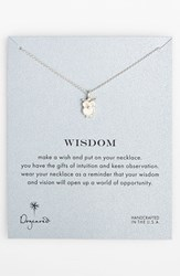 Women's Dogeared 'Reminder Owl' Boxed Owl Pendant Necklace