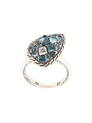 John Hardy Classic Chain Topaz And Calcite Small Ring Silver