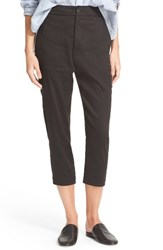 Vince Women's Crop Linen Blend Cargo Pants