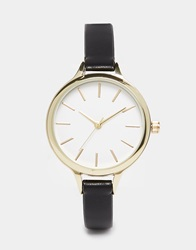 New Look Classic Skinny Strap Watch Black