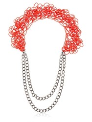Alienina Altrove Brass And Nylon Chain Necklace