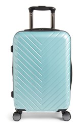 Nordstrom Chevron 18 Inch Spinner Carry On Blue Green