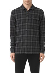 Allsaints Hobart Long Sleeve Shirt Black