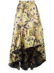 Philosophy Di Lorenzo Serafini Floral Print Maxi Skirt Yellow Orange