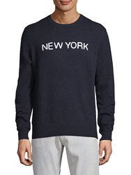 Saks Fifth Avenue New York Cashmere Sweater Navy
