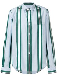 Golden Goose Deluxe Brand Striped Fitted Shirt Blue