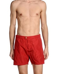 Scotch And Soda Swimming Trunks Red
