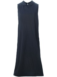 Societe Anonyme Long Sleeveless Dress Blue