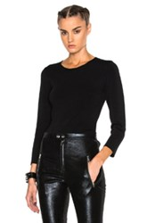 Alexander Wang Keyhole Crewneck Sweater In Black