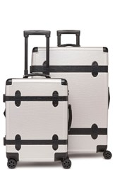 Calpak 2 Piece 30 Inch Trunk And 22 Inch Trunk Rolling Luggage Set Grey Gray