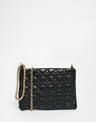 Liquorish Quilted Mini Pouch Clutch Bag Black