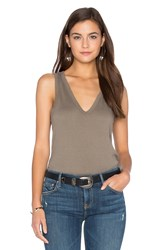 James Perse Skinny Jersey Tank Taupe