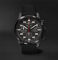 Maurice De Mauriac Zurich Chronograph 42Mm Dlc Coated Stainless Steel And Kevlar Watch Black