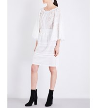 Burberry Carwinley Fitted Embroidered Skirt White