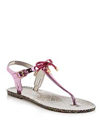 Kate Spade New York Fanley Jelly Thong Sandals Fuschia