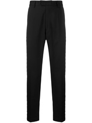 Just Cavalli Ring Embellished Tailored Trousers Black