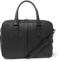 Tod's Textured Leather Briefcase Black